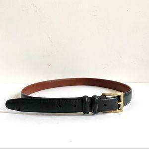 Coach Black Brown Cowhide Leather Belt Sz 32